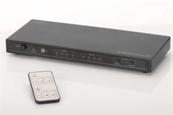 Digitus 4K HDMI Maticový přepínač 4x2, podporuje 4K, 2K, 3D video formáty, Včetně Dálkového ovládání, černý