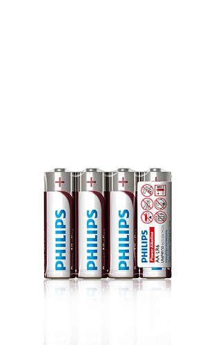 Philips baterie AA Power Alkaline - 4ks