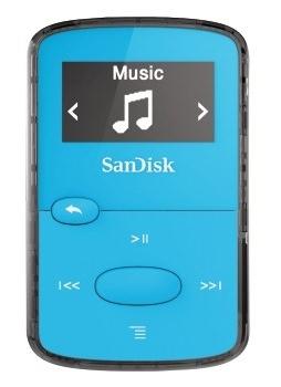 SanDisk Clip Jam 8 GB, FM rádio, MP3, WMA, microSDHC, modrá
