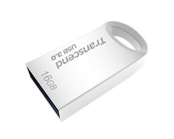 Transcend 16GB JetFlash 710S, USB 3.0 flash disk, malé rozměry, stříbrný kov