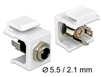 Delock Keystone modul DC 5.5 x 2.1 mm zdířka