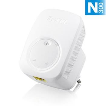 ZyXEL WRE2206, Wireless N300 (802.11n 300Mbps) Range Extender/Repeater, Direcplug design, 1x 10/100Mbps LAN port, WPS b