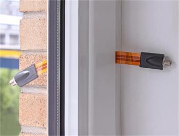 Delock anténní kabel F Jack > F Jack PCB fóliový okenní kabel 25 cm
