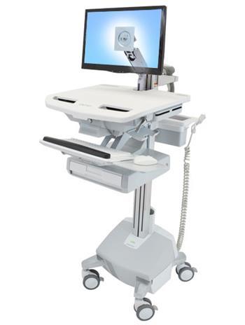 ERGOTRON StyleView® Cart with LCD Arm, LiFe Powered, 1 Drawer, pojízdný stojan, LCD, Klávesnice, myš, s napájením