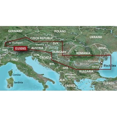 BlueChart G2 Vision - EU509S / Plavebná mapa mapa Dunaja