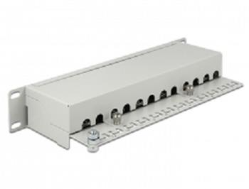 "Delock 10"" Patch Panel 12 Port Cat.6 grey"