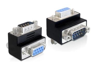 Delock adaptér Sub-D 9 pin samec > samice 270° pravoúhlý