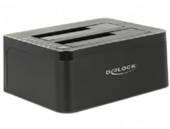 Delock Duální dokovací stanice SATA HDD > USB 3.0 s funkcí klonování
