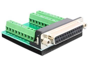 Delock adaptér Sub-D 25 pin samice > svorkovnice 27 pinů