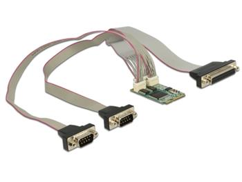 Delock Module MiniPCIe I/O PCIe full size 2 x Serial RS-232 + 1 x Parallel