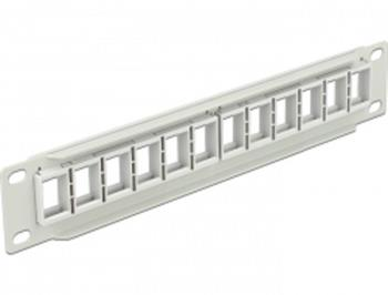 "Delock 10"" Keystone Patch Panel 12 Port grey"