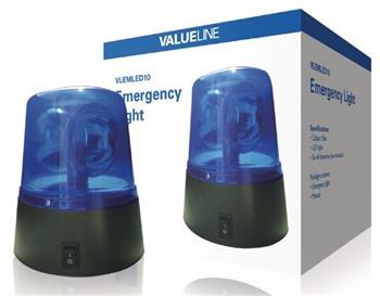 Valueline VLEMLED10 - LED výstražný maják, modrý