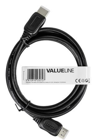 Valueline VGVT34000B10 - High Speed HDMI kabel s ethernetem a konektory HDMI – HDMI, 1,00 m černý
