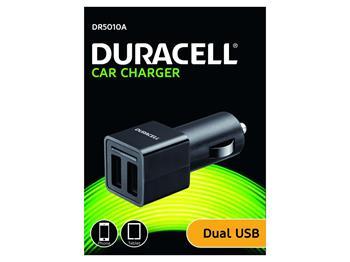 Duracell - Dual USB Auto-nabíječka pro tablet černá