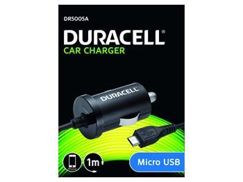Duracell - Auto-nabíječka s micro USB konektorem černá 1m