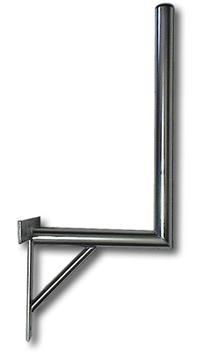 Anténní držák na zeď, délka 35 cm, výška 60 cm, d=42mm se vzpěrou