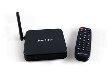 OpenHour Gecko 4K TV Box, QC 1,5GHz/1GB/8GB/SD/WLAN/LAN/USB/HDMI/DO/A4.4