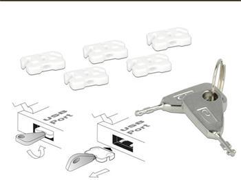 Delock zámek USB portu pro USB A samici