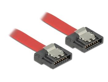 Delock kabel SATA FLEXI 6 Gb/s 30 cm červený kovová spona