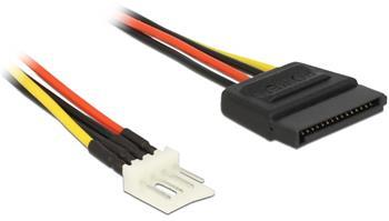Delock napájecí kabel SATA 15 pin samec > 4 pin floppy samec 15 cm