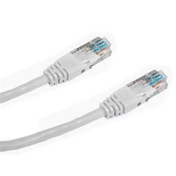 DATACOM Patch cord UTP CAT5E 0,5m bílý