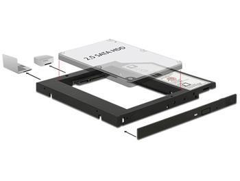 """Delock Slim SATA 5.25"""" instalační rámeček pro 1 x 2.5"""" SATA HDD do 9,5 mm"""