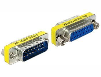 Delock adaptér Sub-D 15 pin samice > samec