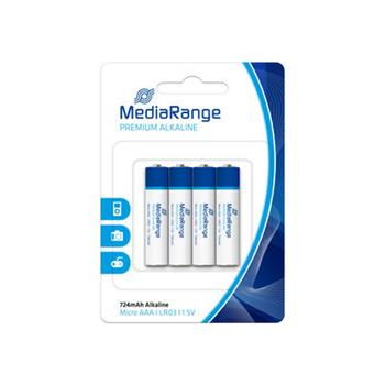 MediaRange Premium baterie micro AAA 1,5V Alkalické 4pck/BAL