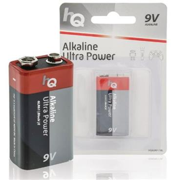 HQ 9V Ultra Power, alkalická baterie 9V (6LR61) - 1 ks, blistr
