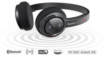CREATIVE SoundBlaster JAM sluchátka s mikrofonem, BLUETOOTH bezdrátová, konektor USB, NFC