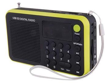 emGo 1505W - rádio, MP3, USB, SD/microSD přehrávač, žlutá