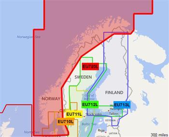 BlueChart G2 - HXEU720L / Nórsko / LARGE