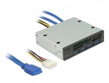 "Delock 3.5"" USB 3.0 čtečka karet s 5 sloty + 4 porty USB 3.0 Hub"