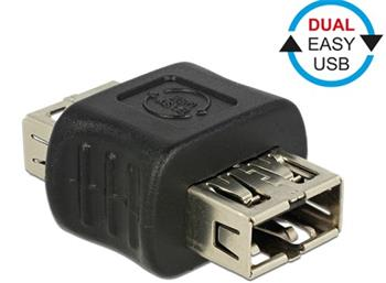 Delock Adapter EASY-USB 2.0 Type-A female > EASY-USB 2.0 Type-A femal