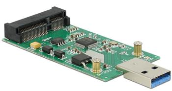 Delock konvertor USB 3.0 A samec > mSATA full size