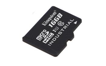 KINGSTON 16GB microSDHC UHS-I Class 10 Industrial Temp Card bez adaptéru