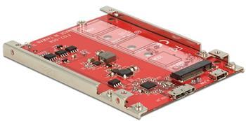 "Delock 2.5"" Převodník USB 3.1 Micro-B samice > M.2 Key B - 7 mm výška"
