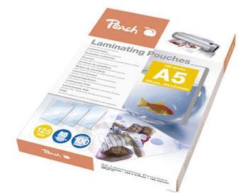 PEACH laminovací folie A5 (154x216mm), 125mic, 100ks