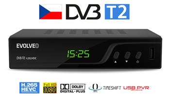 EVOLVEO Omega T2, HD DVB-T2 H.265/HEVC multimediální rekordér, HDMI, SCART, USB,