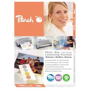 PEACH laminovací folie 10x15 cm Laminating Pouch Photosize (80x111mm), 125mic, 100ks