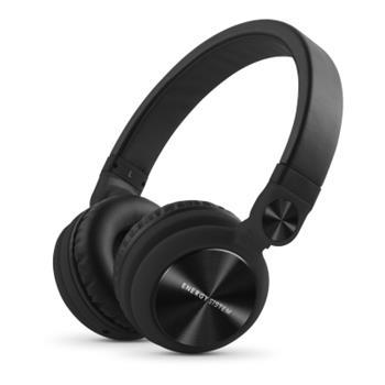 ENERGY DJ2 Black Mic, stylová DJ sluchátka, skládatelná, otočná, mikrofon ,odnímatelný kabel, 108 dB,3,5mm