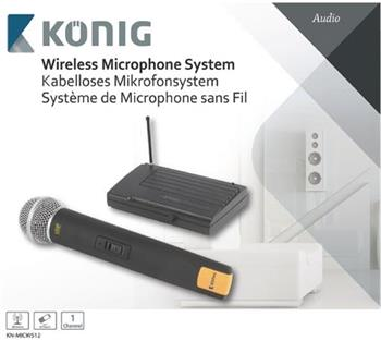 König KN-MICW512 - bezdrátový mikrofonní systém, 1 mikrofon