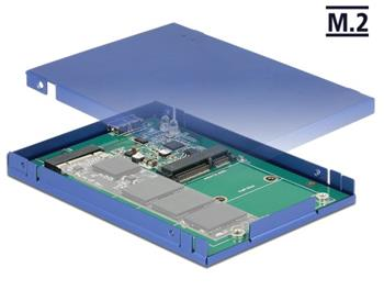 "Delock 2.5"" Konvertor USB 3.1 Micro-B samice > M.2 / mSATA s pouzdrem"