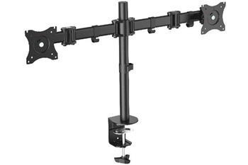 Digitus VESA dvojitý svorkový stolní stojan, 90o otočný, 30o sklopný, otočný 360o, 15