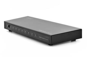 Digfitus Rozbočovač HDMI, 1x8, 1080p, 3D, vysokorychlostní 2,25 Ghz/225 MHz, kovové pouzdro, černý