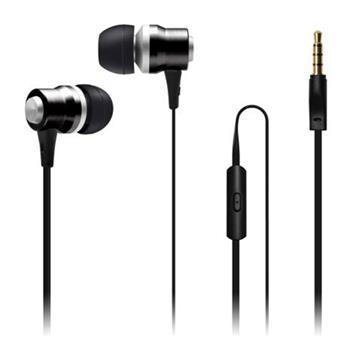 CONNECT IT Alu Sonics sluchátka do uší EP-222-BK s mikrofonem, 4 pin, černá