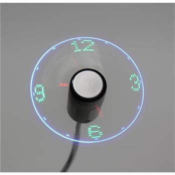 OMEGA USB ventilátor s hodinami