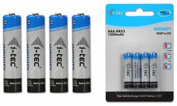 i-Tec nabíjecí baterie AAA 1000 mAh INFINITY, 4 ks