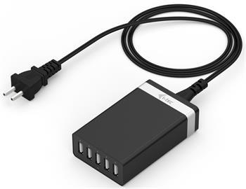 i-Tec USB Smart Charger 5 Port - nabíječka 230V pro 5 USB zařízení, 2.4A