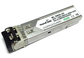 MaxLink 1.25G SFP optický modul, MM, 850nm, 550m, 2x LC konektor, DDM, Cisco compatible
